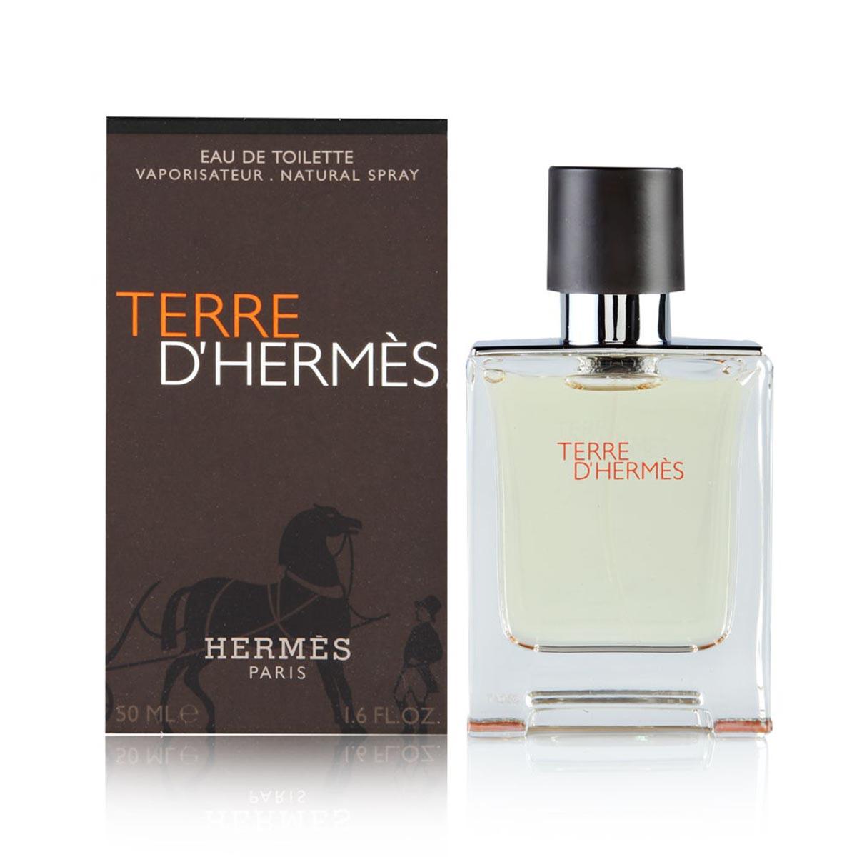 Hermes terre d hermes pour homme eau de toilette 50ml vaporizador