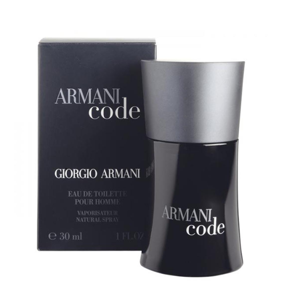 Giorgio armani black code men eau de toilette 30ml vaporizador