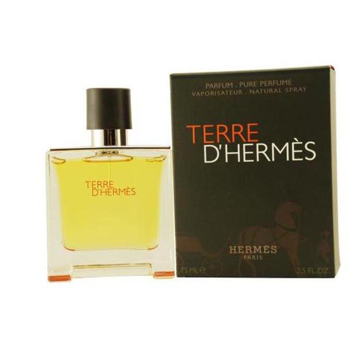 Hermes terre d hermes pour homme eau de parfum 75ml vaporizador