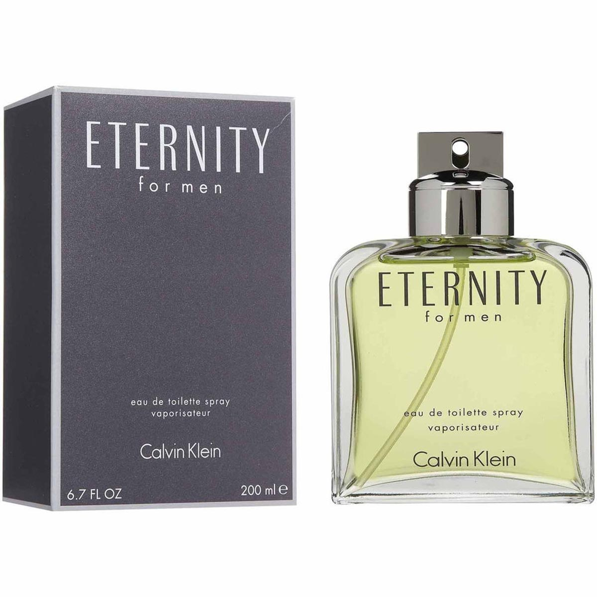 Calvin klein eternity men eau de toilette 200ml vaporizador
