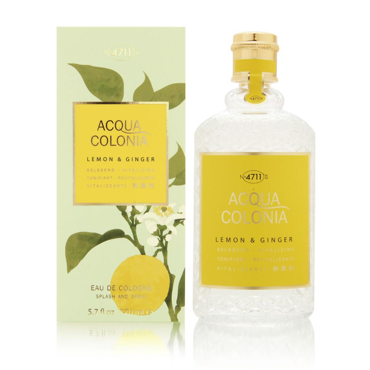 4711 acqua colonia lemon ginger eau de cologne 170ml