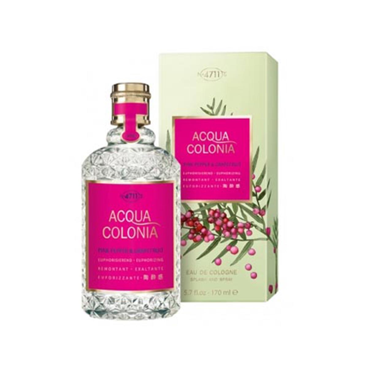 4711 acqua colonia pink pepper grapefruit eau de cologne 170ml vaporizador