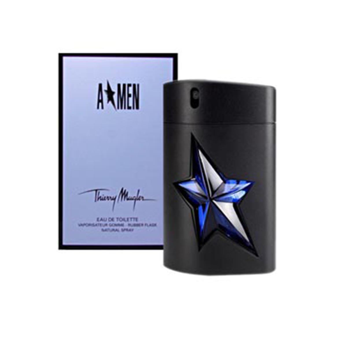 Thierry mugler a men eau de toilette rubber 50ml recargable vaporizador