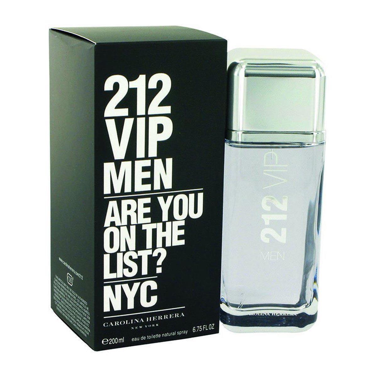 Carolina herrera 212 vip men eau de toilette 200ml vaporizador