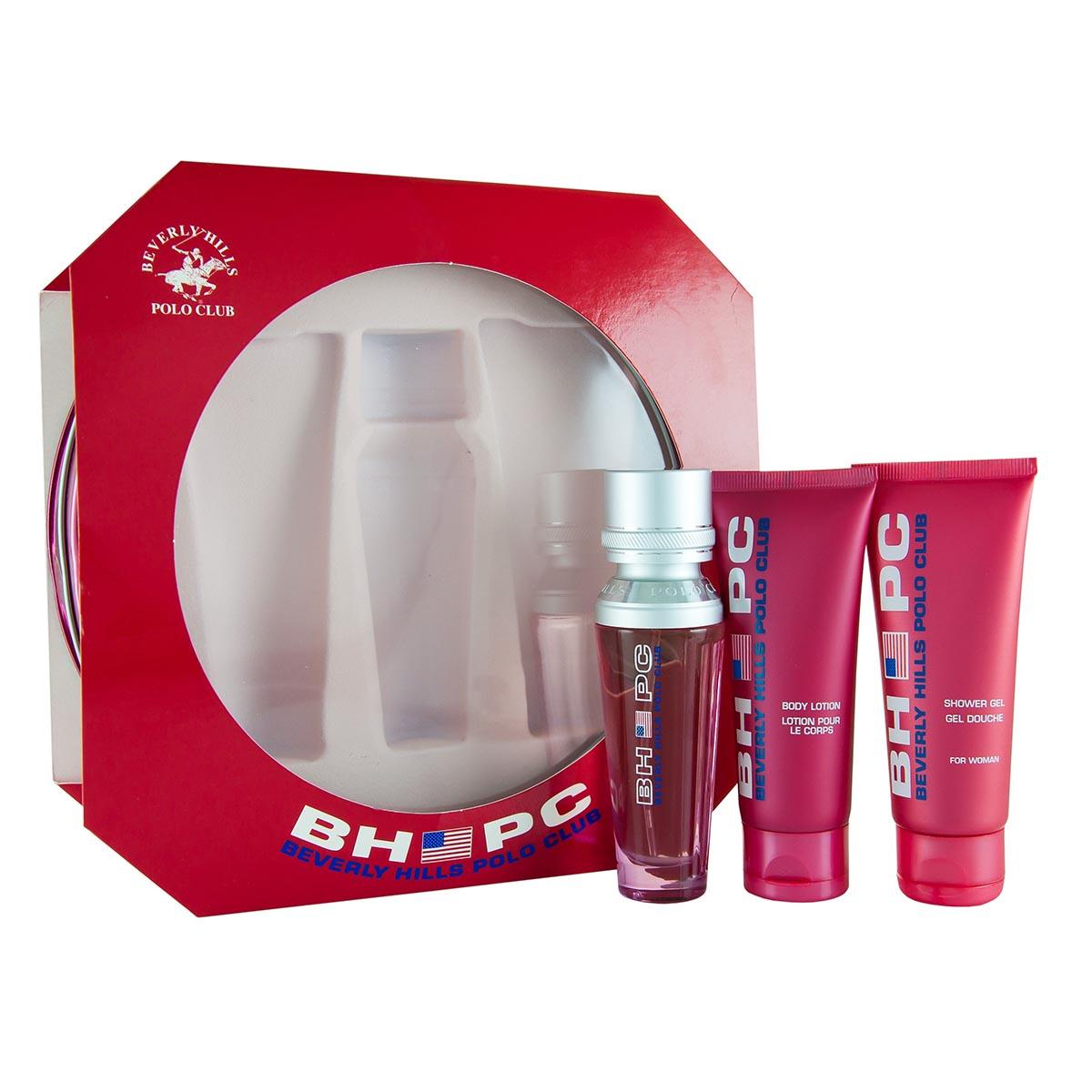Beverly hills polo club sport pour femme eau de toilette 50ml vaporizador gel 75ml leche corporal 75ml