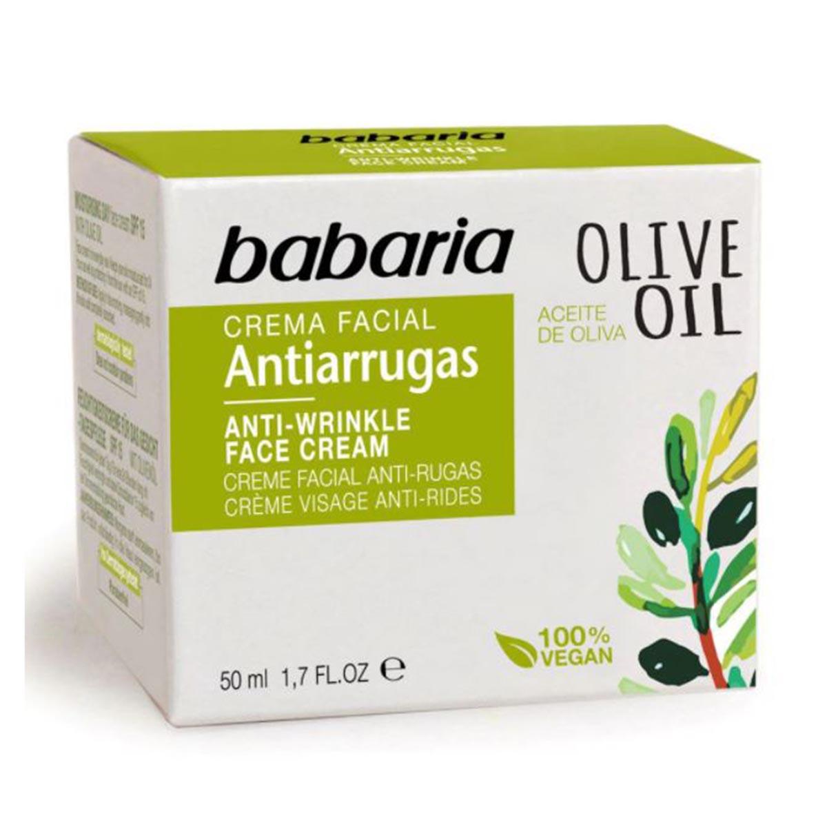 Babaria olive oil crema facial anti arrugas noche 50ml
