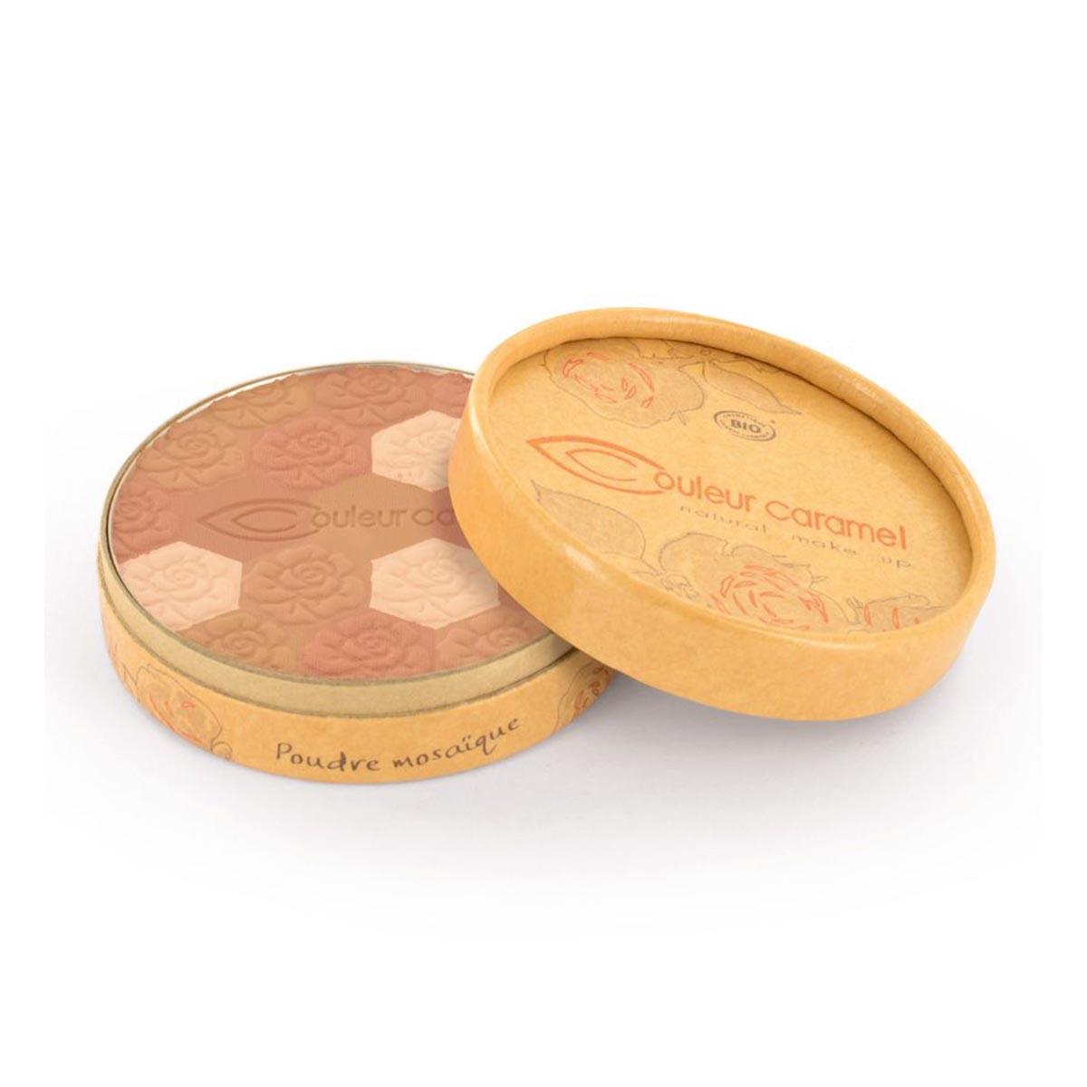 Couleur caramel poudre mosaique eclat du teint mate 233 medium skin