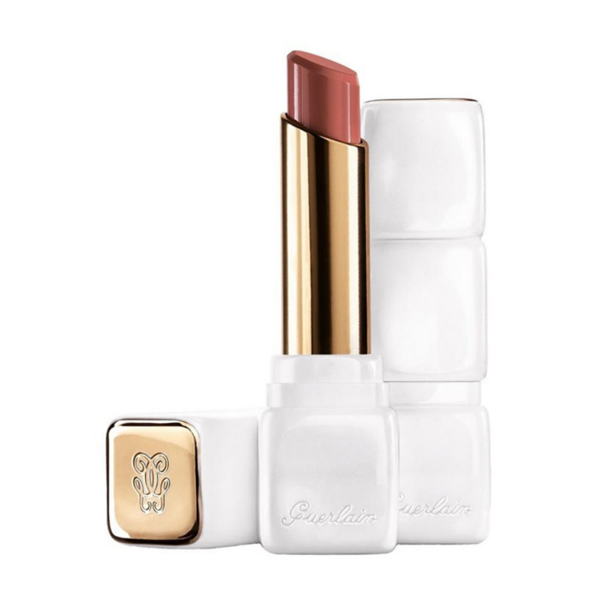 Guerlain kiss kiss le rouge creme galbant lipstick 372 all about pink