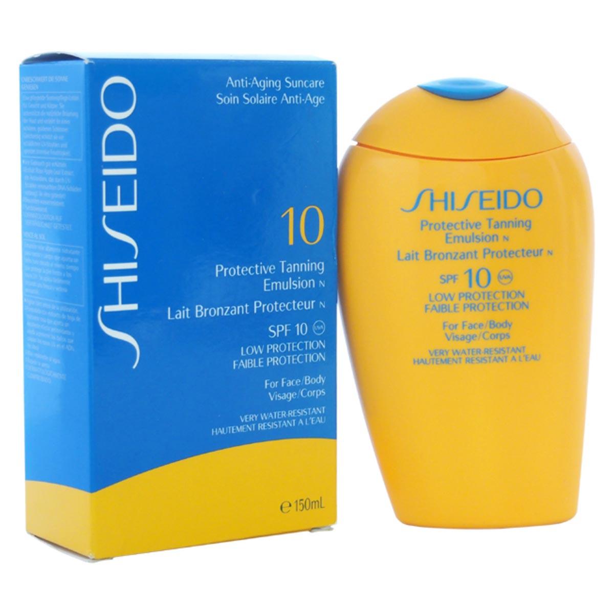 Shiseido anti aging suncare protective tanning emulsion spf10 150ml