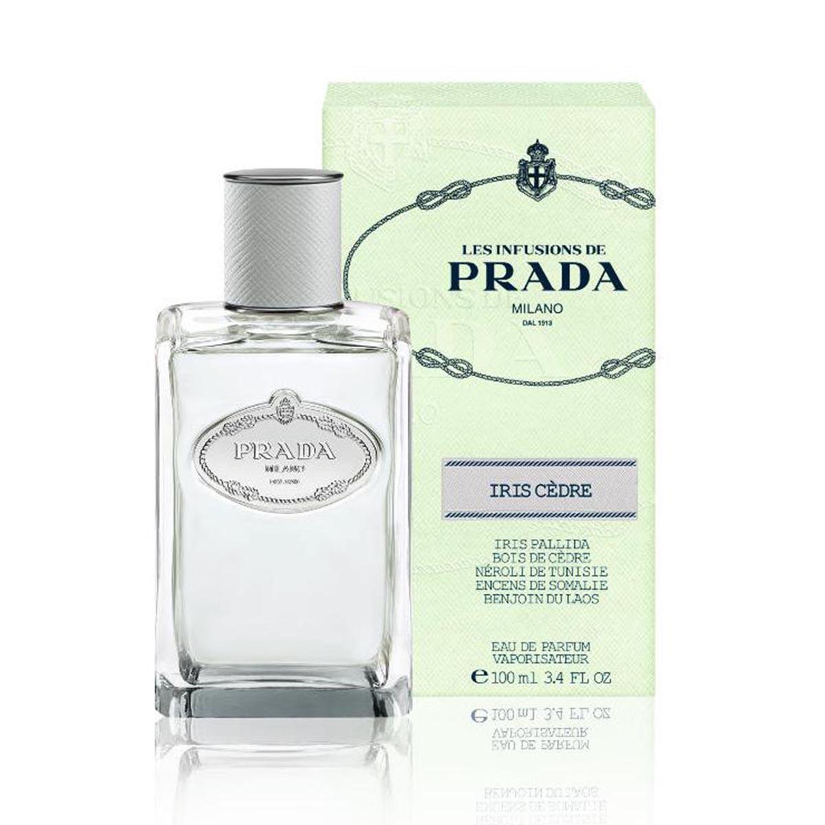 Prada les infusions de prada iris cedre eau de parfum 100ml vaporizador