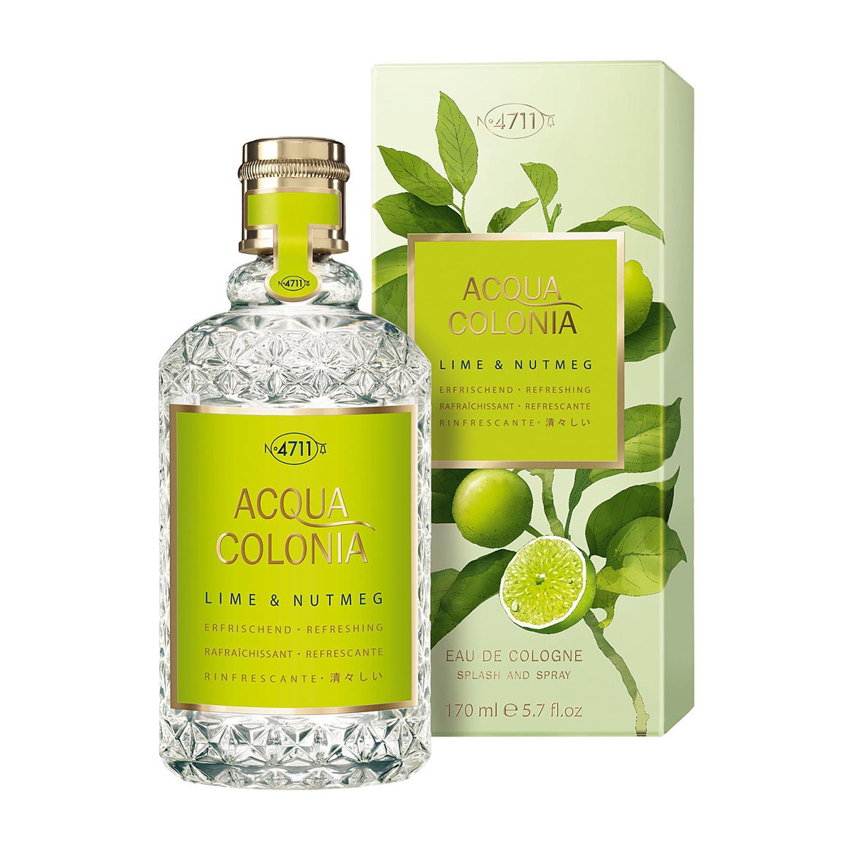 4711 acqua colonia lime nutmeg natural spray eau de colonia 170ml vaporizador