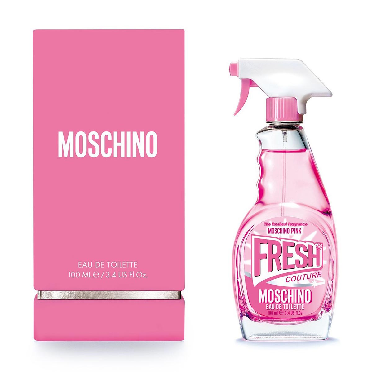 Moschino pink fresh couture eau de toilette 100ml vaporizador