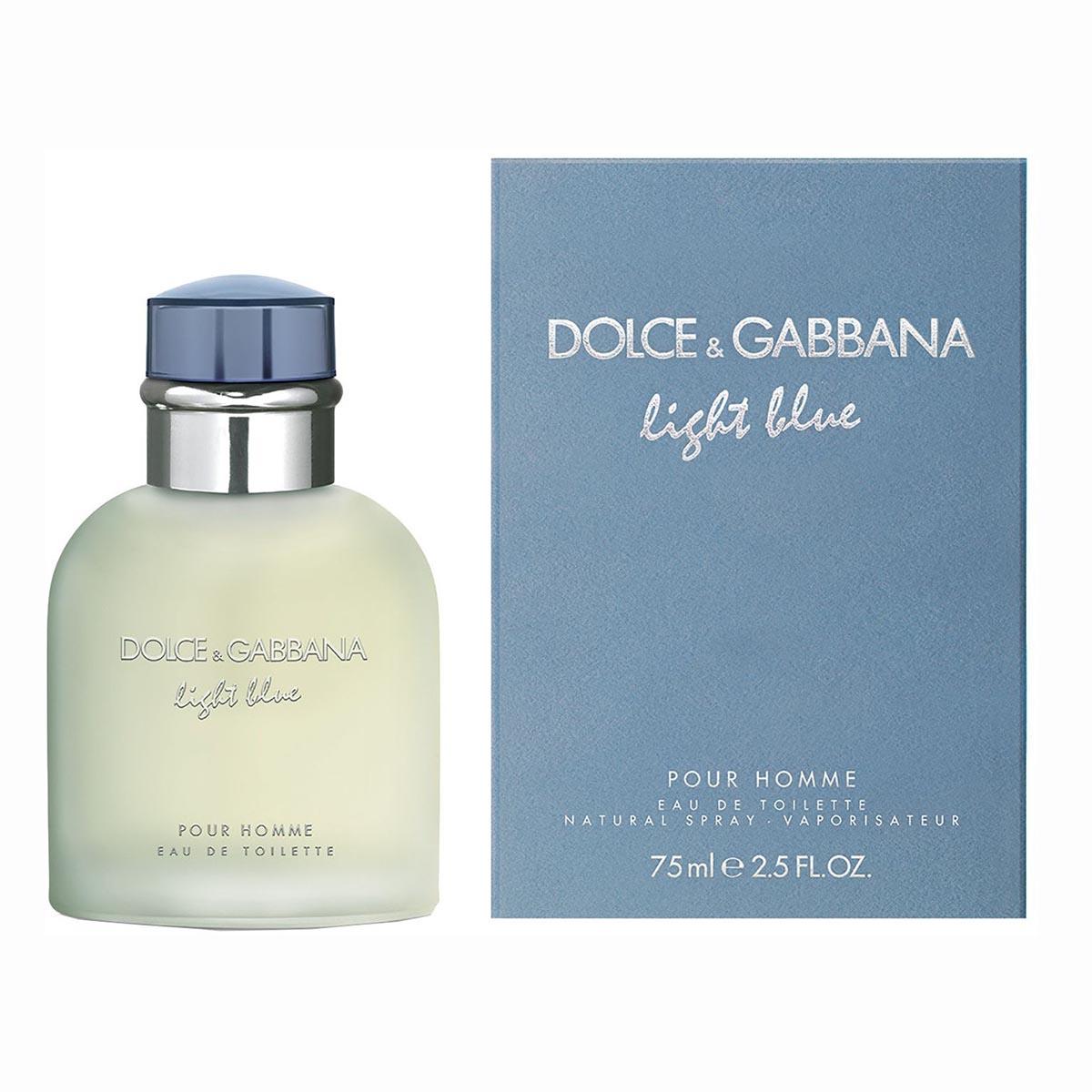 Dolce gabbana light blue pour homme eau de toilette 75ml vaporizador