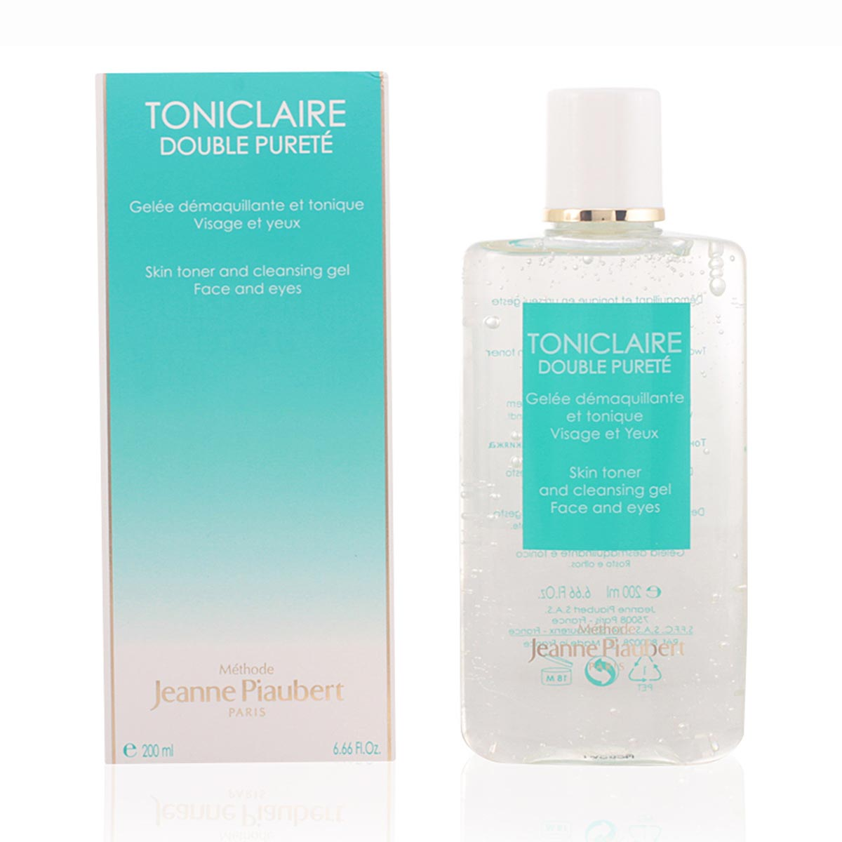 Jeanne piaubert toniclaire double purete face and eyes cleansing gel 200ml