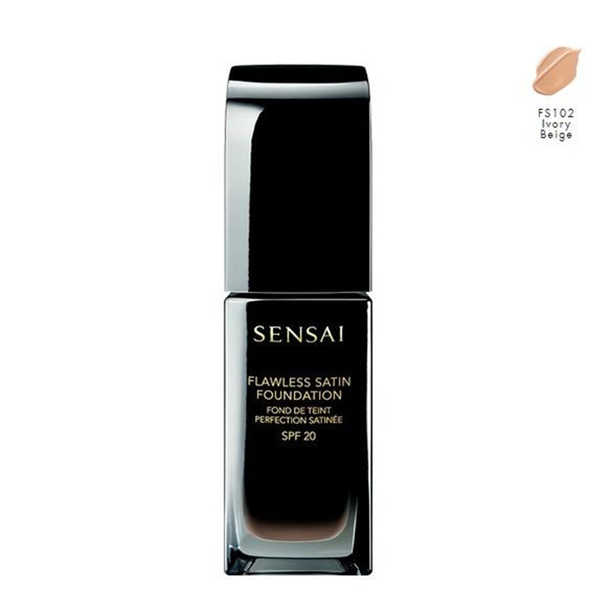 Kanebo sensai flawless satin foundation fs102 ivory beige