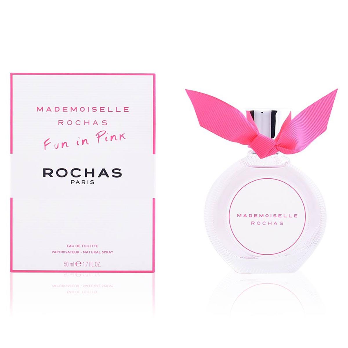 Rochas mademoiselle fun in pink eau de toilette 50ml vaporizador