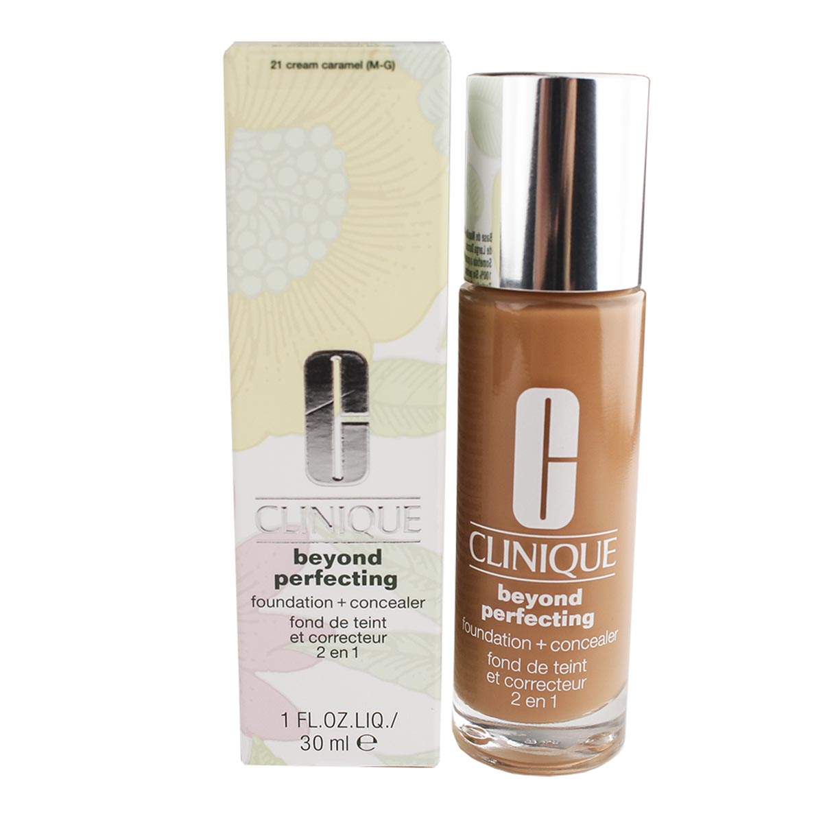 Clinique beyond perfecting foundation concealer 21 cream caramel