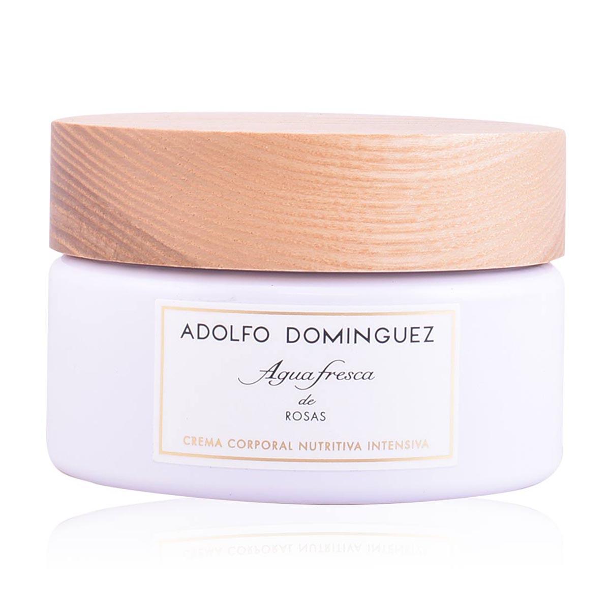 Adolfo dominguez agua fresca de rosas crema corporal nutritiva intensiva 300ml tarro tarro