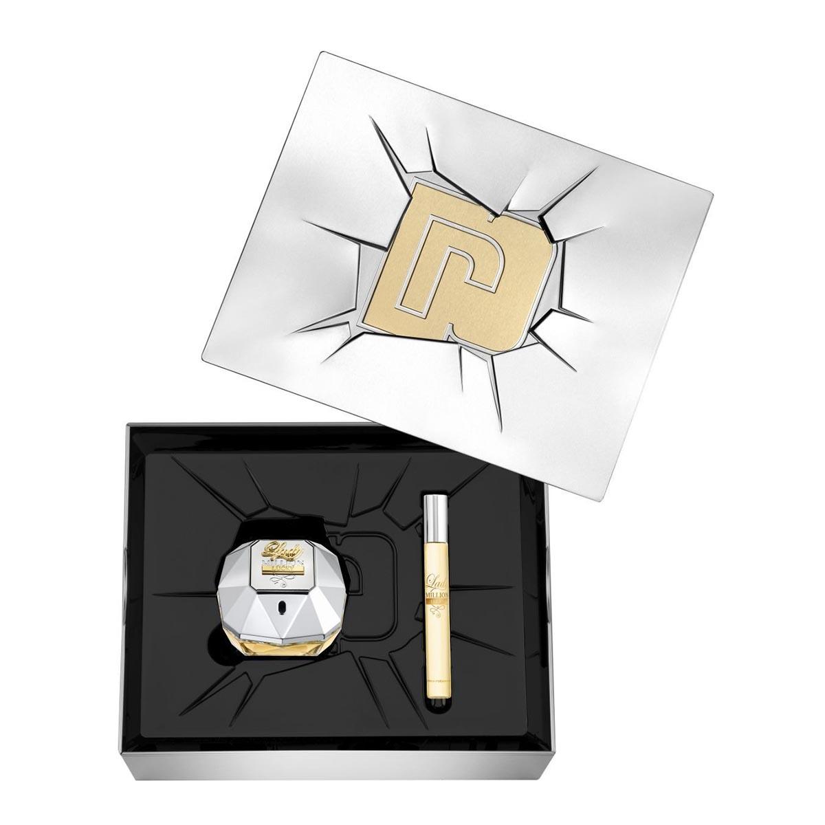 Paco rabanne lady million lucky eau de parfum 80ml vaporizador miniatura 10ml
