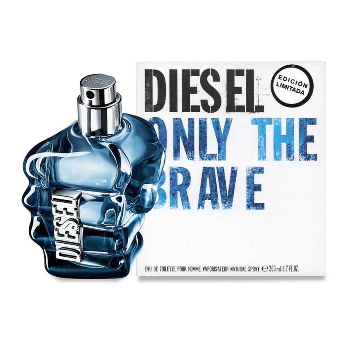 Diesel only the brave eau de toilette pour homme 200ml vaporizador