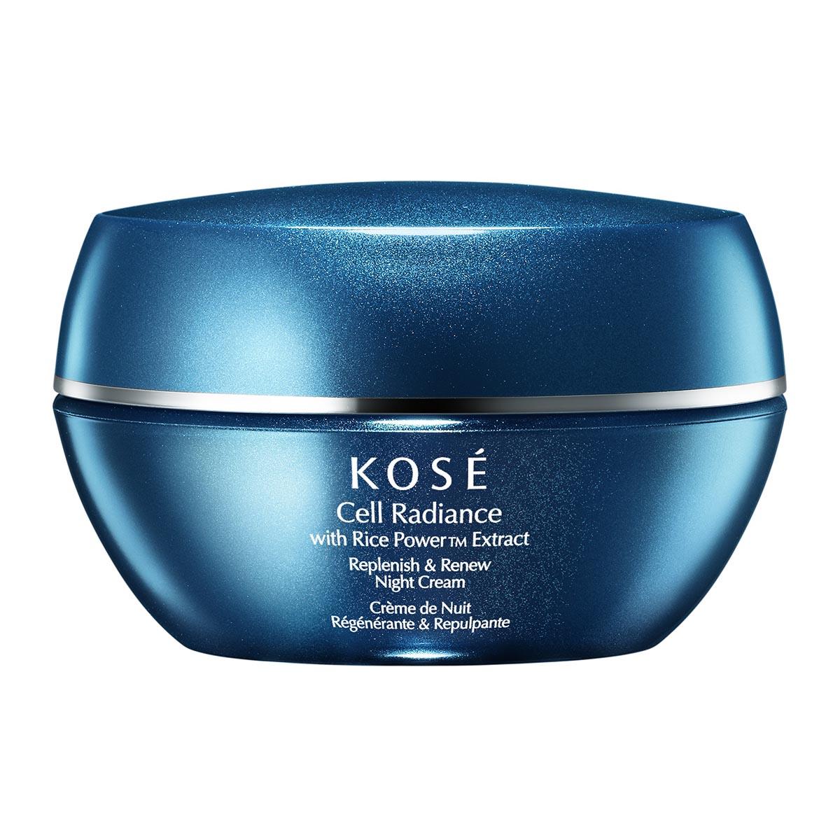 Kose cell radiance with rice powertm extract replenish renew night cream 40ml
