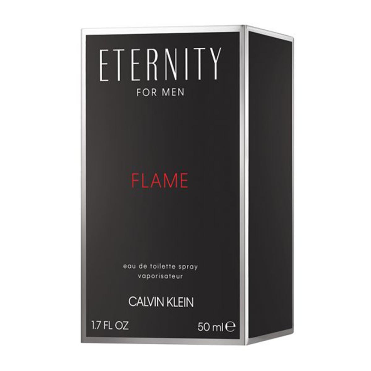 Calvin klein eternity for men flame eau de toilette 50ml vaporizador