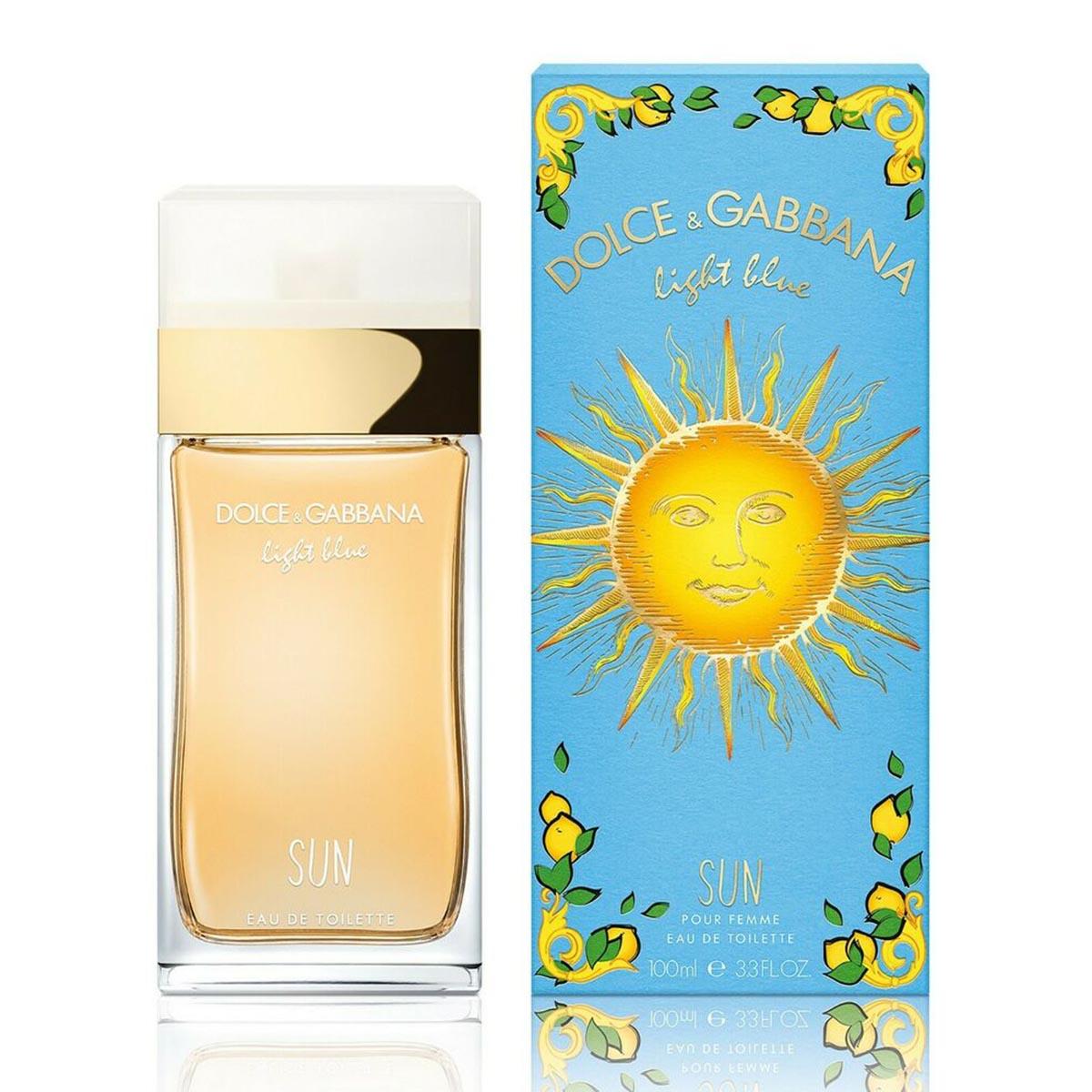 Dolce gabbana light blue sun pour femme eau de toilette 100ml vaporizador edicion limitada