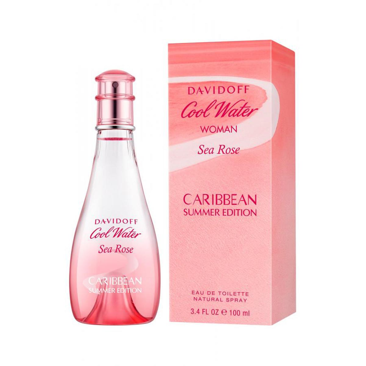 Davidoff cool water woman sea rose caribbean summer edition eau de toilette 100ml vaporizador
