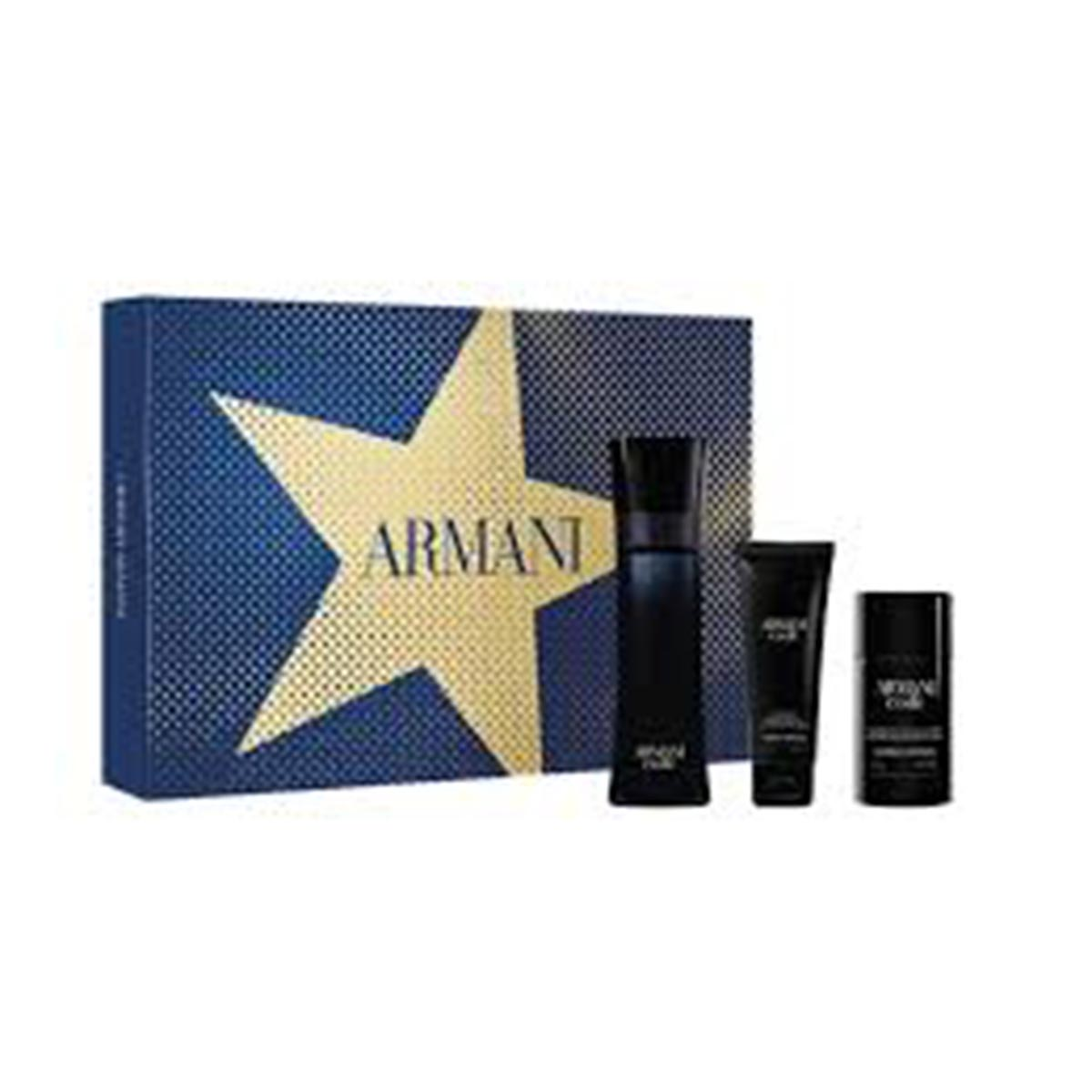 Giorgio armani code eau de toilette for men 125ml vaporizador gel de ba o 75ml desodorante 75ml