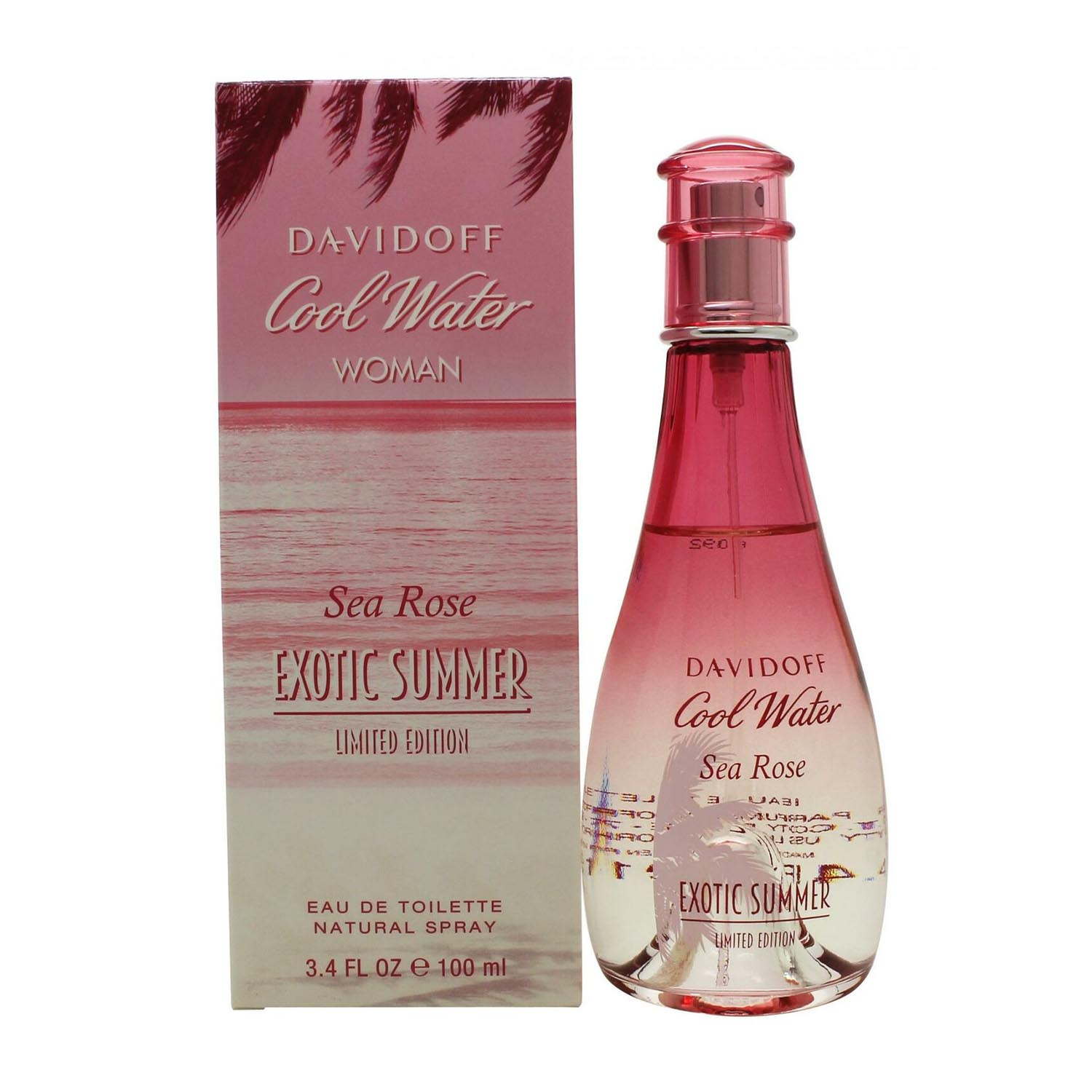 Davidoff cool water woman sea rose exotic summer eau de toilette 100ml vaporizador edicion limitada