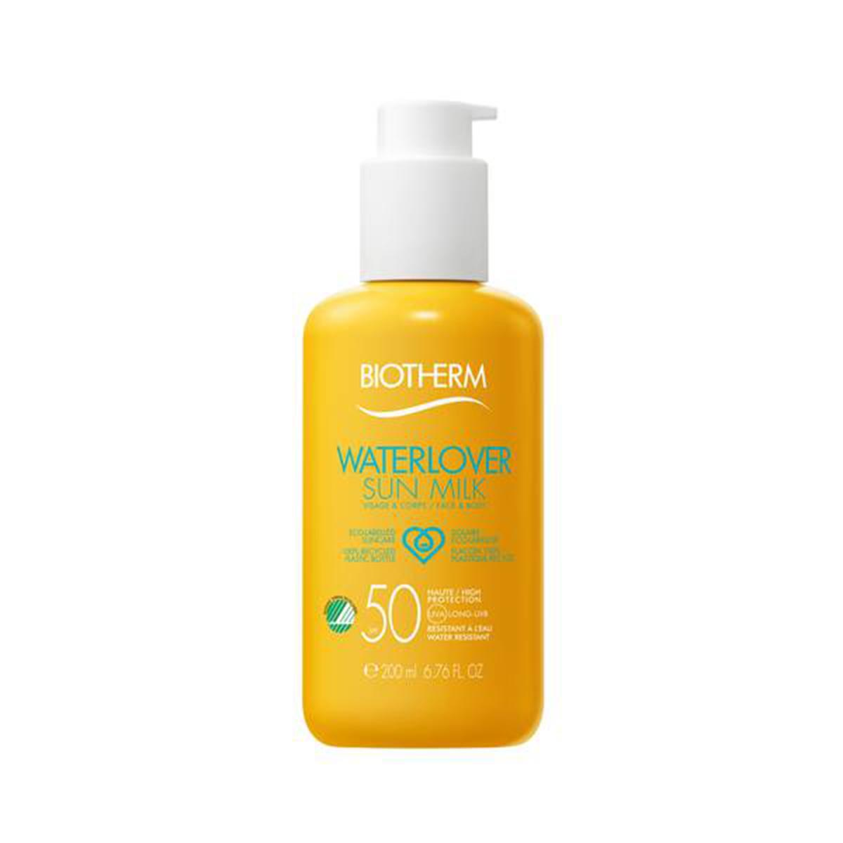 Biotherm eco designed waterproof waterlover sun milk spf50 200ml - BellezaMagica.com