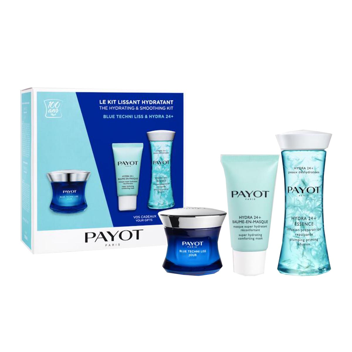 Payot blue tech lissant hydratant essence 24h day cream mask