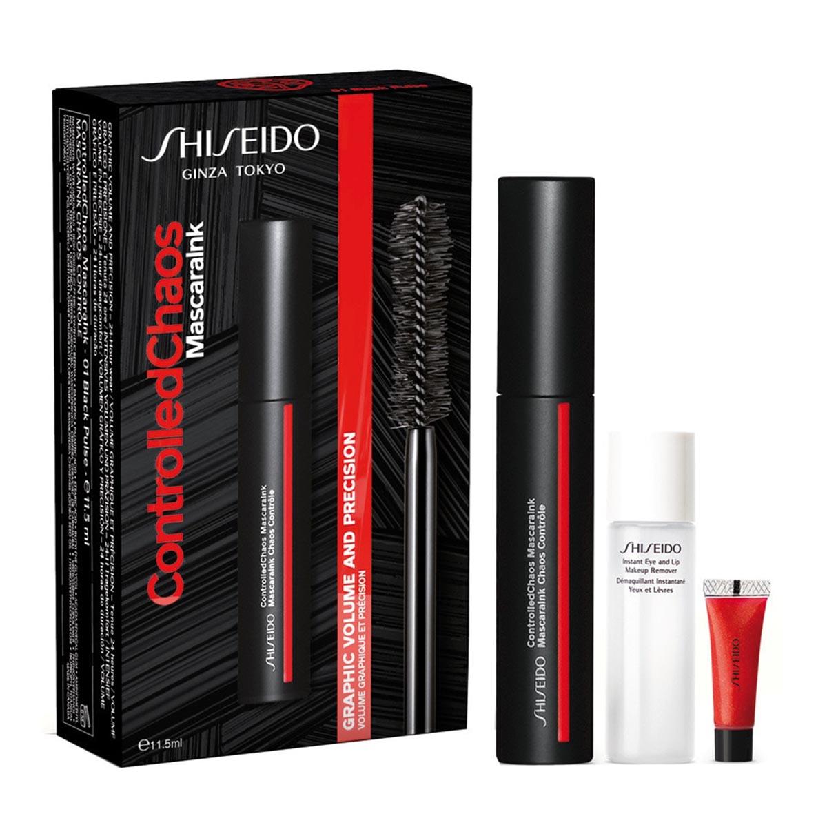 Shiseido controlled chaos mascaralnk mascara de pesta as 1un desmaquillante 1un mini crema
