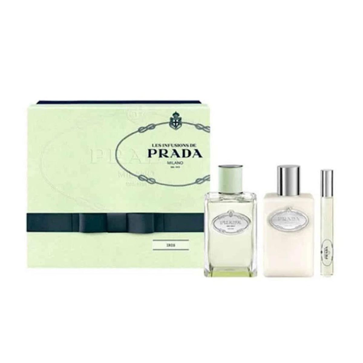 Prada infusion d iris eau de parfum 100ml locion corporal perfumada 100ml desodorante roll on 10ml