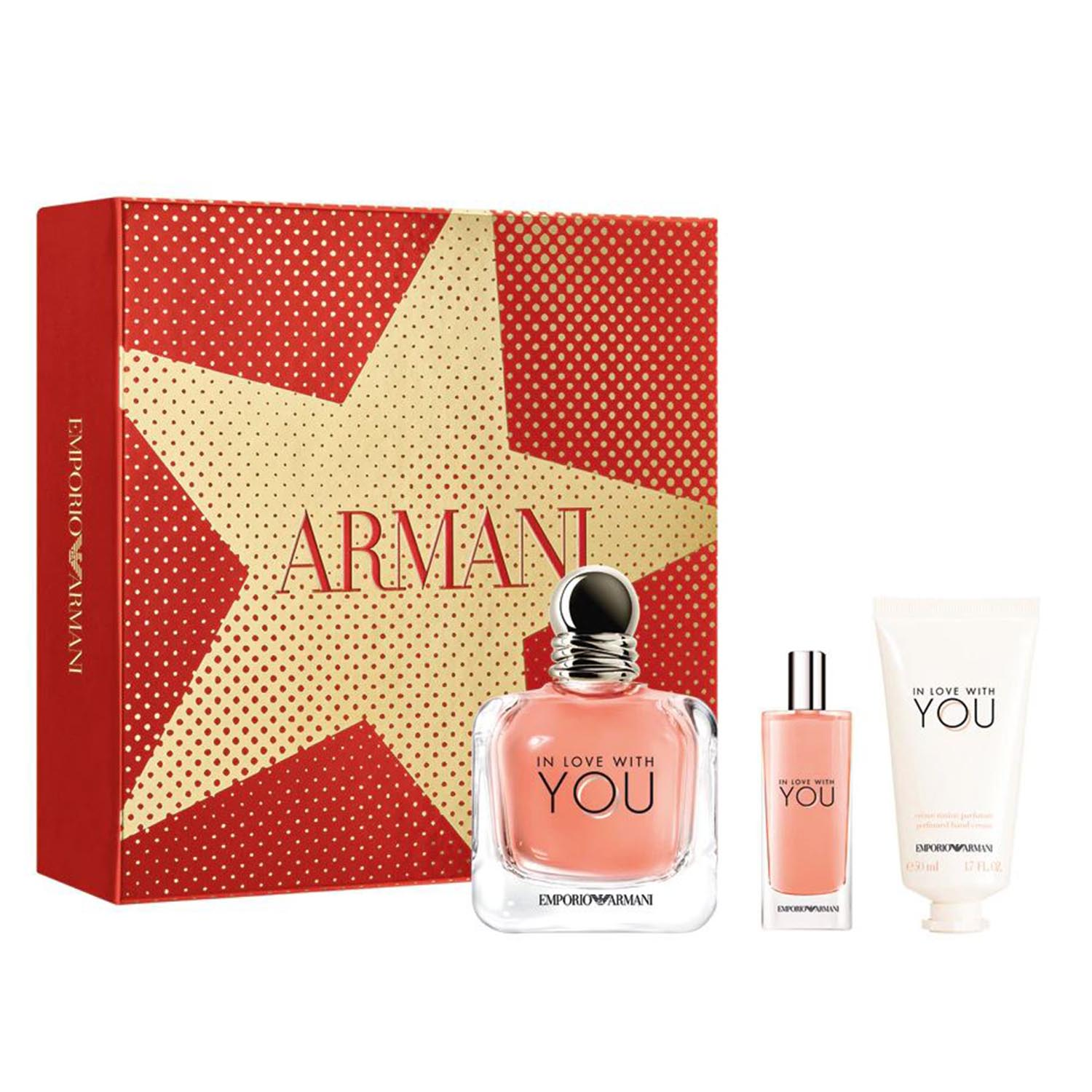 Giorgio armani armani you for her eau de toilette 100ml eau de toilette 15ml vaporizador body cream 50ml