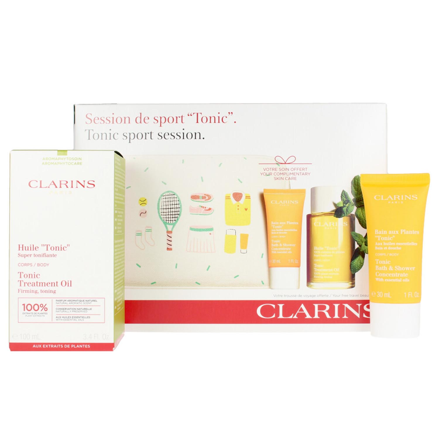 Clarins session sport aceite 100ml tonico 30ml