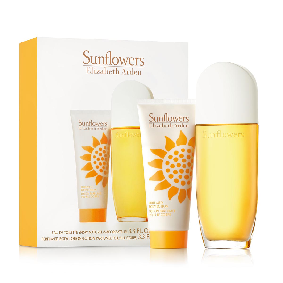 Elizabeth arden sunflowers eau de toilette 100ml vaporizador body milk 100ml