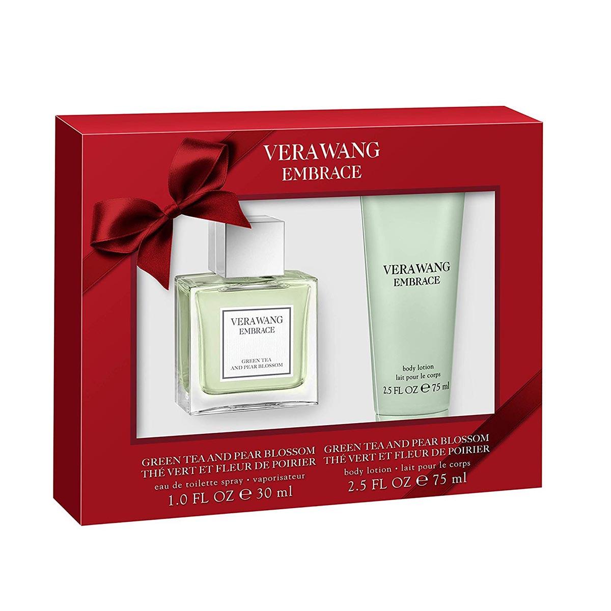 Vera wang embrace green tea and pear blossom eau de toilette 30ml locion corporal perfumada 75ml